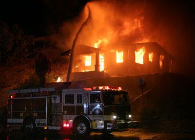 large property fire photo
